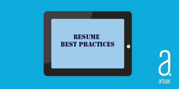 10 Best Practices for Your Resume